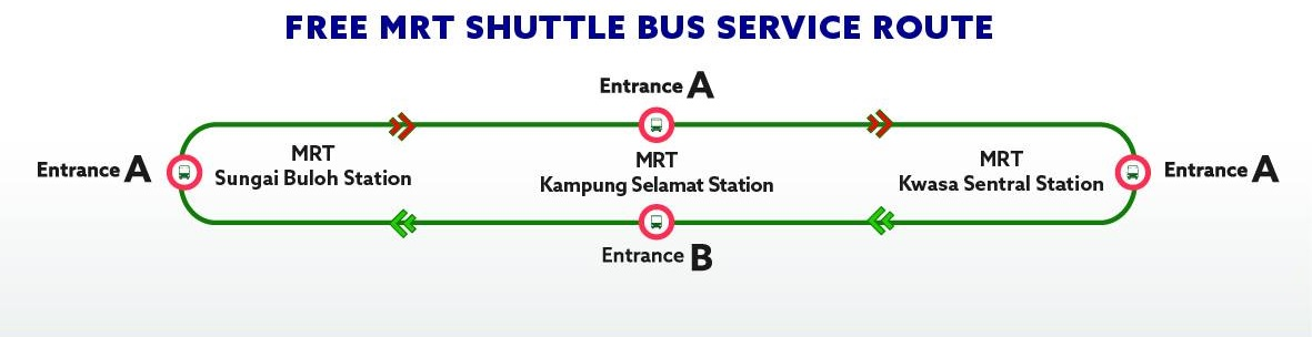 MRT Stations replacement bus