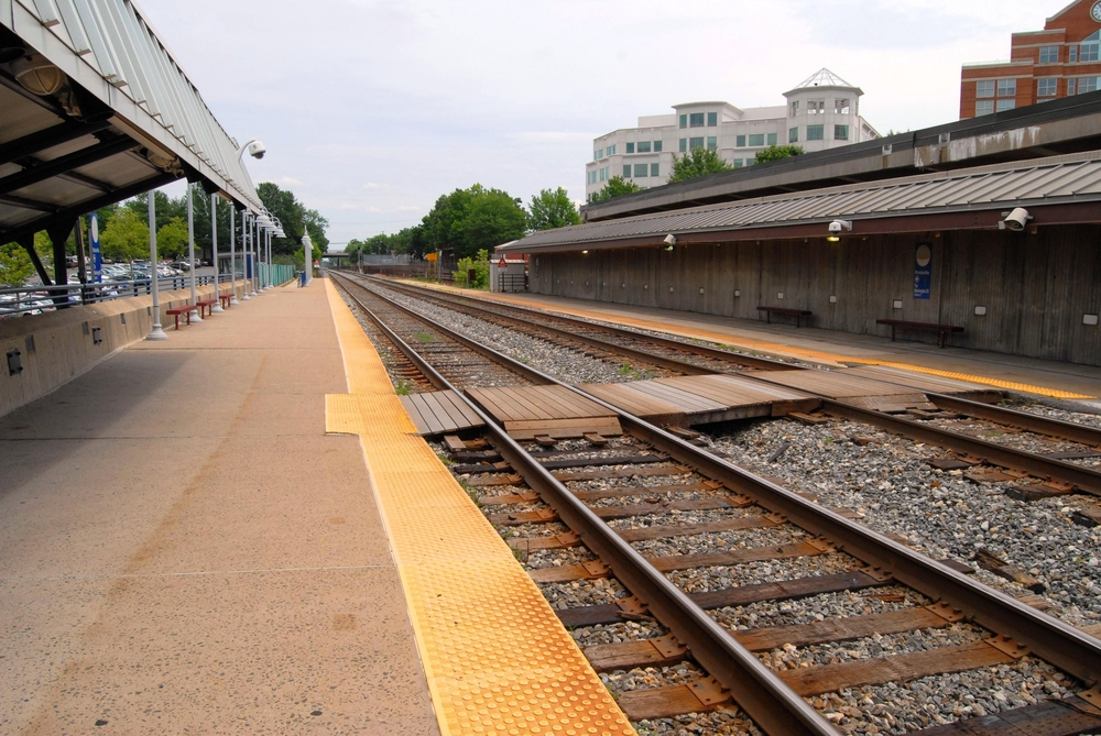 Rockville Train Station from platform overlooking tracks